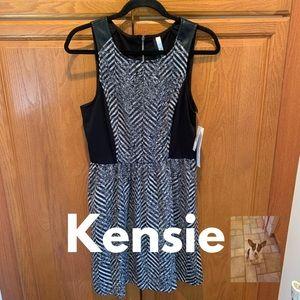 Kensie sleeveless black dress size S